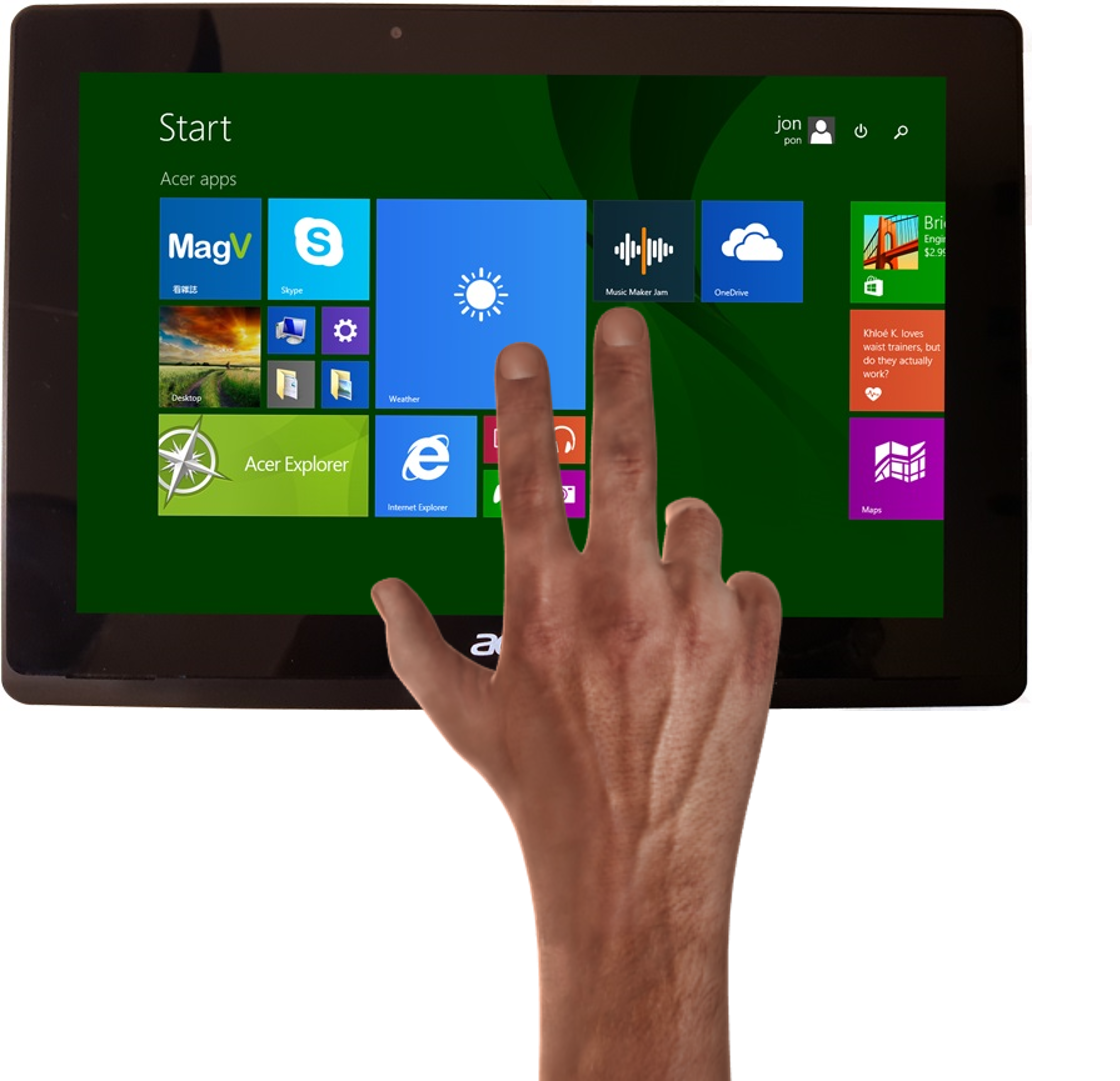 All touchscreens are supported